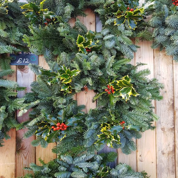 Natural 8 inch Holly Wreath